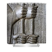 Sculpture From Persepolis In Iran Shower Curtain