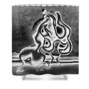 Sculpture Of Passion Shower Curtain