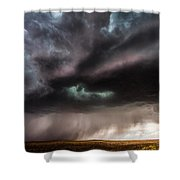 Sculpture - Turquoise Colored Storm Over Kansas Plains Shower Curtain