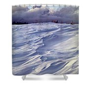 1m9347-sculptured Snow And Grand Teton Shower Curtain