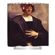 Scumbag Columbus Shower Curtain
