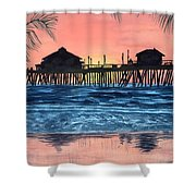 Sd Dock At Sunset Shower Curtain