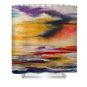 Sea And Sky V Shower Curtain