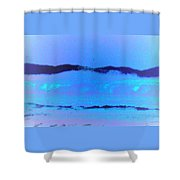 Sea At Its Bluest Shower Curtain
