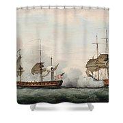 Sea Battle Shower Curtain