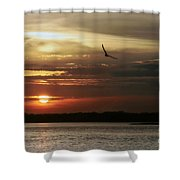 Sea Bright Sunset Shower Curtain