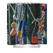 Sea Buoy's Shower Curtain