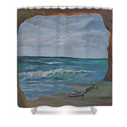 Sea Cave Shower Curtain