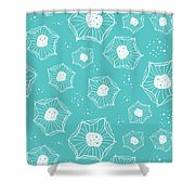 Sea Flower Shower Curtain by Susan Claire