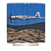 Sea Fury Fly-by Shower Curtain