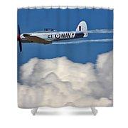 Sea Fury Stripes Shower Curtain