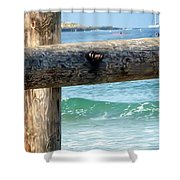 Sea Gate Shower Curtain