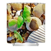 Sea Glass And Shells 17 10/2 Shower Curtain