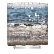 Sea Glitter Shower Curtain