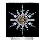 Sea Holly I Flower Mandala Shower Curtain