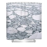 Sea Ice Pancake Ice Forming Antarctica Shower Curtain