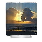 Sea Island Sun Rays Shower Curtain