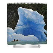 Sea Kayaking With Icebergs Tracy Arm Shower Curtain