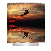 Sea King Sunset  Shower Curtain
