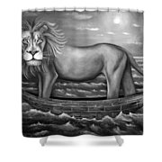 Sea Lion In Bw Shower Curtain