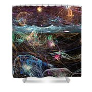 Sea Monsters And Horror Fish  Shower Curtain