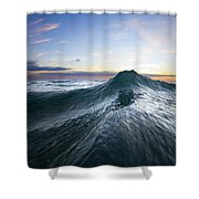 Sea Mountain Shower Curtain by Sean Davey