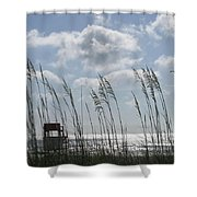 Sea Oats And Safety Shower Curtain