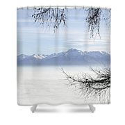 Sea Of Fog And A Tree Shower Curtain