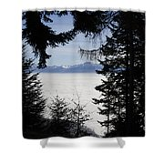Sea Of Fog Over An Alpine Lake Shower Curtain
