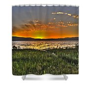 Sea Of Galilee Sunset Shower Curtain