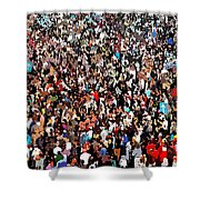 Sea Of People Shower Curtain by Glenn McCarthy Art and Photography