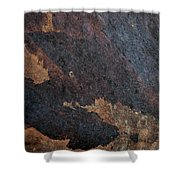 Sea Of Rust Shower Curtain by Fran Riley