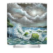 Sea Of Smiling Faces Shower Curtain
