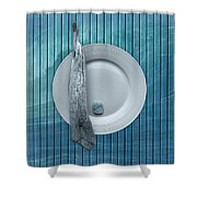 Sea Plate - S31zprc02 Shower Curtain