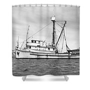 Purse Seiner Sea Queen Monterey Harbor California Fishing Boat Purse Seiner Shower Curtain