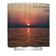 Sea Quote - Cousteau Shower Curtain