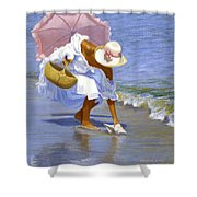 Sea Shell Pink Shower Curtain