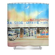 Sea Side Drive In Shower Curtain