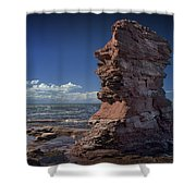 Sea Stack At North Cape On Prince Edward Island Shower Curtain