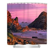 Sea Stacks Clearing Storm Harris State Beach Oregon Shower Curtain