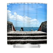 Sea Stairs Shower Curtain