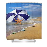 Sea Star Celebration  Shower Curtain