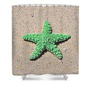 Sea Star - Green Shower Curtain by Al Powell Photography USA