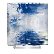 Sea Sun And Clouds Shower Curtain