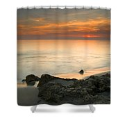 Sea Sunset Shower Curtain