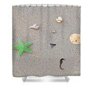 Sea Swag - Green Shower Curtain