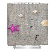 Sea Swag - Pink Shower Curtain