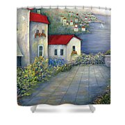 Sea Terrace Shower Curtain