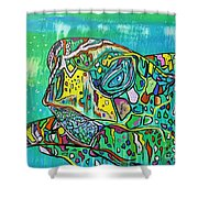 Sea Turtle Sam Shower Curtain