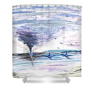 Sea Twister Shower Curtain